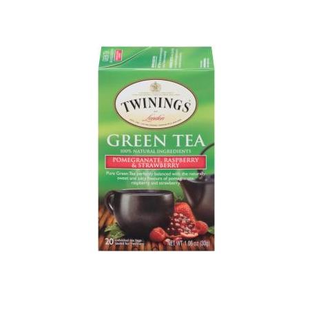TWININGS® OF London Green Pomegranate, Raspberry & Strawberry Tea Bags