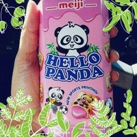 MEIJI Hello Panda Biscuit with Strawberry Cream Filling uploaded by Ieesha H.