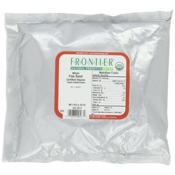 Frontier Flax Seed Whole Certified Organic, 16 Ounce Bags (Pack of 3)