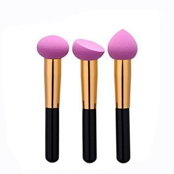Kasla 3Pcs Makeup Blender Sponge Foundation Blending Blush Concealer Eye Face Powder Cream Cosmetics Beauty Makeup Sponges Set