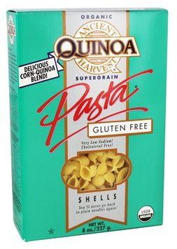 Ancient Harvest Quinoa - Organic Gluten Free Supergrain Quinoa Pasta Shells - 8 oz (pack of 6)