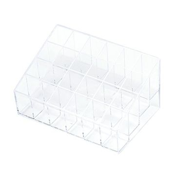 WensLTD 1PC Crazycity Generic 24 Stand Trapezoid Clear Lipstick Holder Makeup Cosmetic Organizer