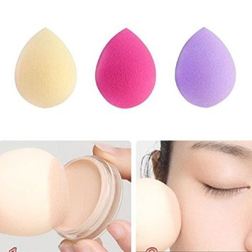 Lookatool 3PCS Pro Beauty Makeup Foundation Puff Water Droplets Sponge