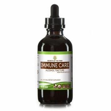 Immune Care Tincture Alcohol Extract, Organic Astragalus Root, Echinacea Root, Reishi Mushroom, Schisandra Berry, Wildcrafted Prickly Ash Bark 4oz