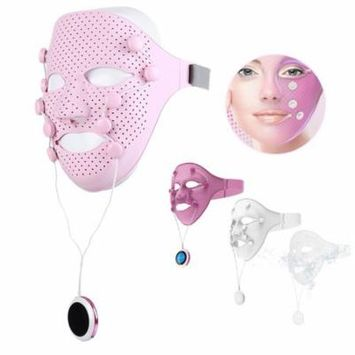 TMISHION Facial Acupoints Massage Mask, 3D Magnet Vibratory Skin Rejuvenation Magic Face Lift Anti-wrinkle Beauty Massager