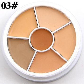 Professional Highlighting Concealer Cosmetic Beauty Kit,SMYTShop Makeup Naked Eyeshadow Palette 6 Color Natural Nude Matte Shimmer Glitter Pigment Eye Shadow Pallete Set (03#)