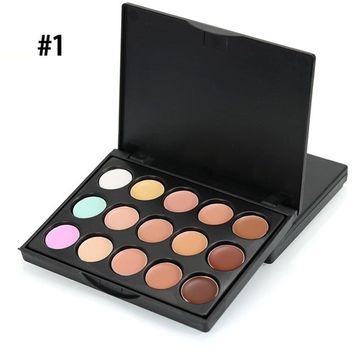 15 Colors Makeup Contour Kit,SMYTShop Cosmetics Contour and Highlighting Cream Foundation Palette Contouring Makeup (#1)