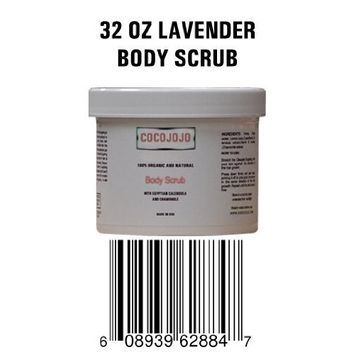 32 Oz Body Scrub with Cocoa Lotion to Exfoliate Dead Cells - Contains Dead Sea Mud and Advanced Bio Complex Active Ingredients