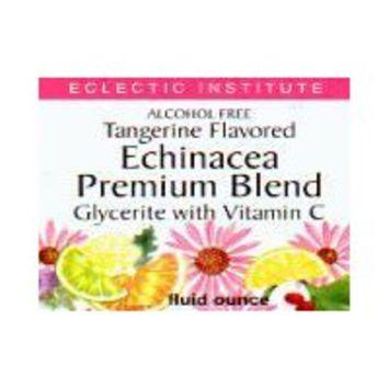 Echinacea Premium Blend-Tangerine No Alcohol Glycerite Eclectic Institute 1 oz L