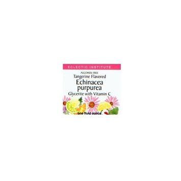 Echinacea Purpurea-Tangerine No Alcohol Glycerite Eclectic Institute 1 oz Liquid