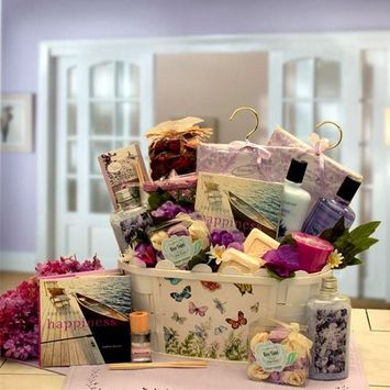 So Serene Spa Essentials Gift Basket with Book