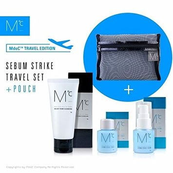 MdoC Moisturizing Travel Set Pouch Foam Cleansing + Sebum Toner + Sebum Serum