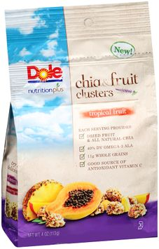 Dole Nutrition Plus Tropical Fruit Chia & Fruit Clusters