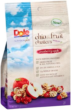 Dole Nutrition Plus Cranberry Apple Chia & Fruit Clusters