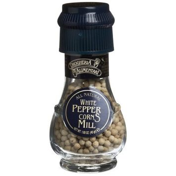 Drogheria & Alimentari All Natural Spice Grinder White Peppercorns, 1.6-Ounce Jars (Pack of 3)