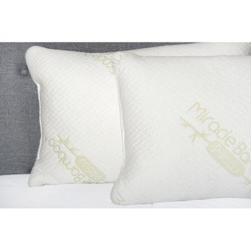 Primo International Blossom Memory Foam Queen Pillow, White
