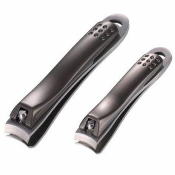 Kapmore 2Pcs Nail Clippers Stainless Steel Sharp Nail Nipper Nail Clipper Set Nail Art Tools for Fingernails Toenails
