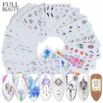 40 Sheets Nail Art Stickers Fashionable Nail Art Decals Nail Stickers Nail Decals for Women