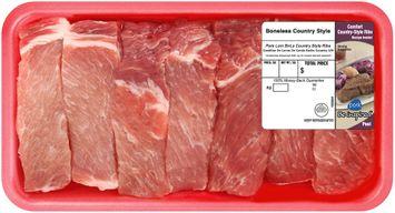 Farmland® Pork Loin Boneless Country Style Ribs Tray