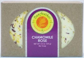 Sunfeather - Bar Soap Chamomile Rose - 4.3 oz.