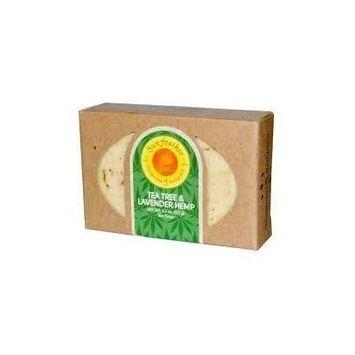Tea Tree & Lavender Hemp Soap Sunfeather 4.3 oz Bar Soap