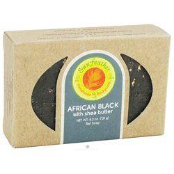 Sunfeather Bar Soap, African Black, 4.3 oz