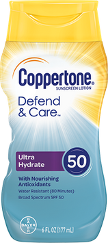 Coppertone Defend & Care UltraHydrate Lotion