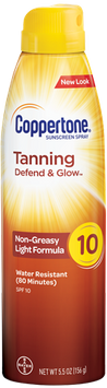Coppertone® Tanning Defend & Glow Sunscreen Continuous Spray