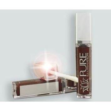 The Lano Company Illumination Lip Gloss with LED Press Button Light & Side Mirror, Crazin' Raisin, 0.3 Fluid Ounce