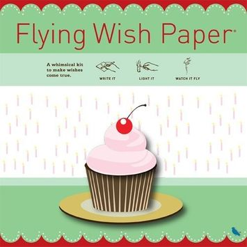 Flying Wish Paper Birthday Cupcake, Large