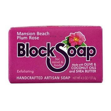 Block Soap Bar Mansion Beach Plum Rose 4.5 oz