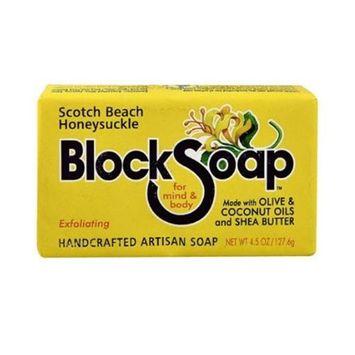 Block Soap Bar Scotch Beach Honeysuckle 4.5 oz