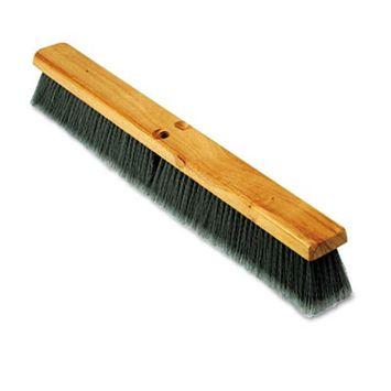 Boardwalk Floor Brush Head, 3 Gray Flagged Polypropylene, 24