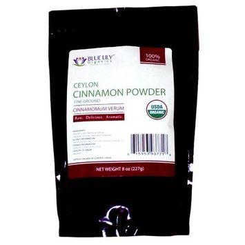 Blue Lily Organics Ceylon Cinnamon Powder - 8 oz - Certified Organic