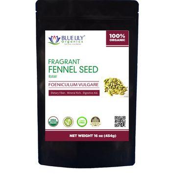 Blue Lily Organics Whole Fennel Seed - 1 Lb