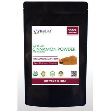Blue Lily Organics Ceylon Cinnamon Powder - 1 Lb - Certified Organic