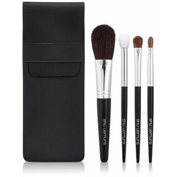 Shu Uemura - Natural Portable Brush Set (For Cheeks, Eye Shadow, Lips) - -