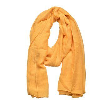 Hopsooken Light Soft Scarves Fashion Thin Scarf Shawl Wrap For Women Men (Yellow)