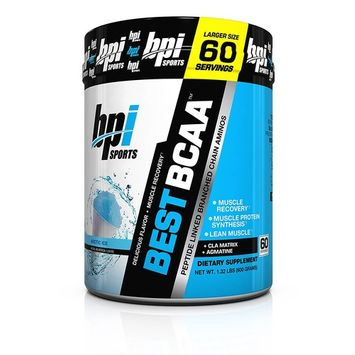 BPI Sports Best BCAA - BCAA Powder - Branched Chain Amino Acids - Muscle Recovery - Muscle Protein Synthesis - Lean Muscle - Improved Performance – Hydration – Arctic Ice - 60 Servings - 1.32 Pound [Arctic Ice]