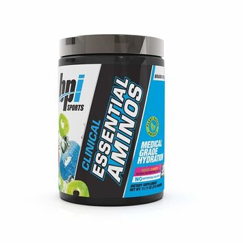 BPI Sports Clinical Essential Aminos – Keto Friendly – Essential Amino Acids (EAAs) – Recovery, Muscle Growth, Hydration – Sour Candy – 30 Servings – 11.11 oz