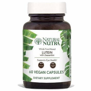 Lutein with Zeaxanthin Supplement by Natural Nutra, Whole Food Formula, Soy Free, Vegan and Vegetarian, 20mg, 60 Capsules