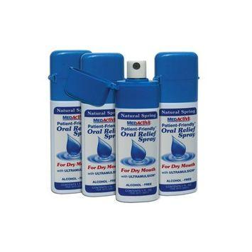 MedActive Oral Relief Spray - Natural Spring - 4-Pack
