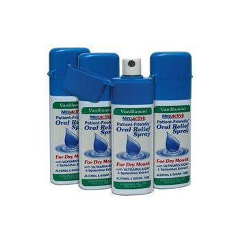 MedActive Oral Relief Spray - Vanillamint - 4-Pack