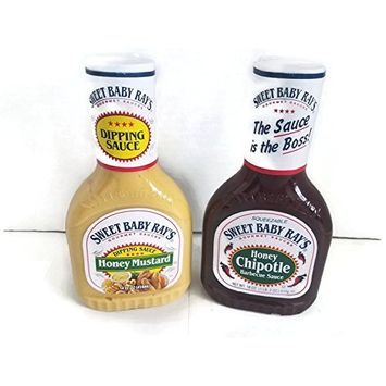 Sweet baby ray's Honey mustard& honey chipotle barbecue sauce 14oz (pack of 2)