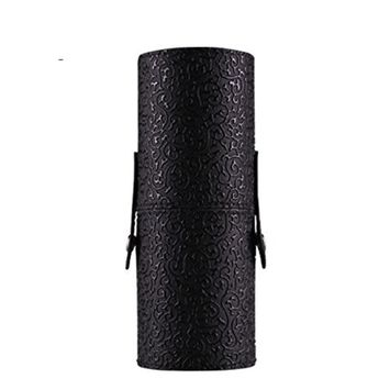 Makeup Bag, Sandistore PU Leather Cosmetic Case Portable Storage Makeup Bags Organizer Brush Holder Cup