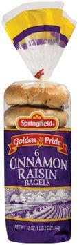 Springfield Cinnamon Raisin 6 Ct Bagels