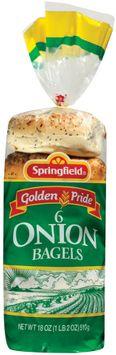Springfield Onion 6 Ct Bagels