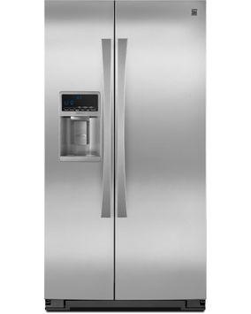 Kenmore Elite 23 cu. ft. Counter Depth Side by Side Refrigerator w/ SmartSense Stainless Steel - 883049