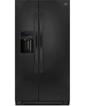 Kenmore Elite 23 cu. ft. Counter Depth Side by Side Refrigerator w/ SmartSense Black - 883049