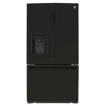 Kenmore 25 cu. ft. French Door Bottom-Freezer Refrigerator- Black